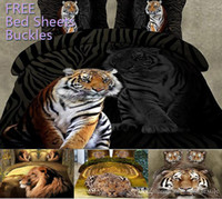 bengal size - UPS Free D Bedding Sets Black Cloth Terrible Bengal Tiger Pattern Design Printed Comforter Set Queen Size Quilt Cover