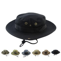 Wholesale S5Q Unisex Edge Hat Boonie Hunting Fishing Camouflage Mountaineering Outdoor Cap AAAFHY