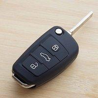 audi tt keychain - Black silicone car key cover case for Audi A1 A3 A4 A5 A6 A7 A8 Q5 Q7 R8 TT S5 S6 S7 S8 SQ5 RS5 fold flip key remote keychain keyring
