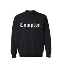 Wholesale a man hoodies fashion new Compton printed cotton hoodie sweatshirt sportswear