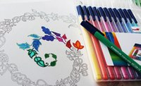 best hunting books - Gilded Cover Best Quality Enchanted Forest Book An Inky Treasure Hunt and Coloring Book Adult Children Painting Book Decomperssion Toy