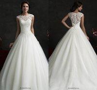 Cheap A-Line Backless Best Model Pictures V-Neck vestido de noiva