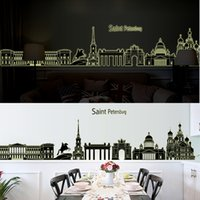 Cheap 1pcs City Saint Petersburg Church Home Decorating House Ornament Glow Islamic 3D Wall Sticker Decal Wallpaper Vinyl Stickers Living Room