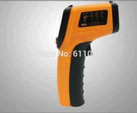 Wholesale 120pcs Nice Non Contact LCD IR Laser Infrared Digital Temperature Thermometer Gun GM320 with retail pacakge