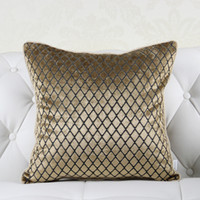 Wholesale Europe Style Simply Solid Gold Red Purple Decorative Pillowcase Pillow Case Throw Pillows Cover No Core