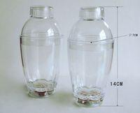 Wholesale LED a shaker suit cocktail shake the bottle Transparent plastic shaker DHL