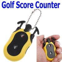 Wholesale 2PCS Mini Golf Stroke Shot Putt Score Counter Keeper Key Chain
