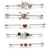 Wholesale stainless steel industrial barbell mix style body piercing jewelry hot sold