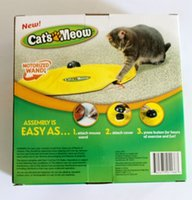 Wholesale Mouse Cat Toy Cat s Meow Toys Undercover Fabric Moving Mouse Toy Electronic Cat Toy by DHL