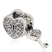 Pandora Heart And Key Charm