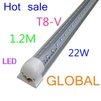 Wholesale V Shaped T8 Led Tube Lights SMD W FT m Integrated Led Fluorescent Lamp Angle Double Glow Warm Natural Cool White Via DHL
