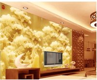 Wholesale Custom photo wallpaper D European Jade carving retro sofa backdrop d wallpaper d mural wallpaper