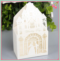 Wholesale Wedding Favor Boxes Party Small Paper Box White Boxes Love Laser Cut With Ribbon Wedding Party Creative Bags