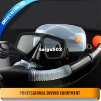 diving equipment - Professional scuba diving equipment diving mask and snorkl set silione mask tempered glasses full Black for diving spearfishing