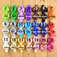 Wholesale HOT Fashion Hairband Children Girls Sequins Bow Hairbands Kids Gifts Bowknot Present Bowknot Elsatic Headbands Childs Hair Accessories