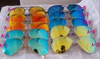 Espejo polarizado de DORP ENVÍO UV protección gafas de sol del color de los hombres de la lente película de color Gafas de sol gafas de sol de película de las mujeres