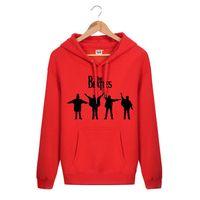 beatles sweatshirt - Hooded Pullover THE BEATLES TEAM LOGO Rock Band Brand Hip Hop Spring Autumn Winter Hoodies Men Cotton Sports Sweatshirts