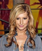 blonde lace front wigs - Blonde Ashley Tisdale Lace Front Human Hair Wigs Inch Wavy Brazilian Hair Lace Wigs