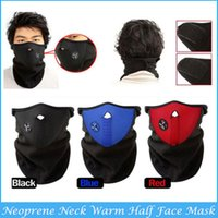 Wholesale Hot Sale New Neoprene Winter Warm Neck Half Face Mask Windproof Veil Sport Snow Bike Motorcycle Ski Guard C9