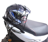 best price motorcycle helmets - Hot Best price x30CM Motorbike Motorcycle Cargo Hooks Hold Down Net Bungee Helmet Web Mesh DHL Free