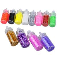 Wholesale Biutee Set Color Nail Glitter Powder Dust D Nail Art Decoration Nail Art Bottle Tip Set