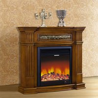 antique fireplaces - Foshan manufacturers of high end European style fireplace m wood engraving American decorative frame Antique white dark