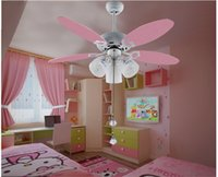 Wholesale Cute pink ceiling fan light kids room inches the bedroom preferred