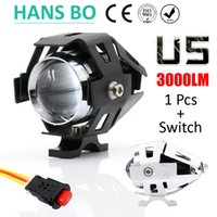 Wholesale 1 W Color Motorcycle Motorbike Headlight LMW Upper Low Beam Flash CREE U5 LED Driving Fog Spot Head Light Lamp