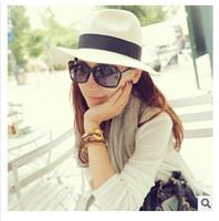 Cheap Panama Straw Hats Fedora Soft Vogue Best Men Women Stingy Brim Caps