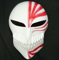 Wholesale New Arrival PVC Death Ichigo Kurosaki Bleach Mask Dance Masquerade Party Cosplay Halloween red black death mask in stock