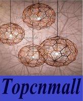 Wholesale Hot Tom dixon Modern brass Etch web pendant light Creative Diamond Pendant Lamp Dia cm cm silver gold