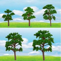 architecture layout - 10pcs Tree Model Train Railway Layout Wargame Diorama Architecture Scenery