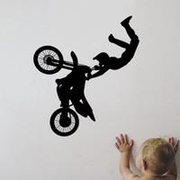 art tricks - Vinyl Wall Decal Art Sticker Motorcycle Racer Tricks Boys Room Decor