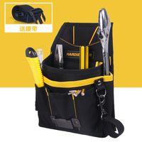 bear bag hanging - Hardie Bear Black Tool Bag Tool Pouch Multi fonction Professional Electricians Waist Bag Hanging Type Tool Bag Good Quality