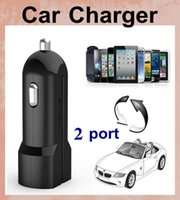 Cheap USAMS Dual USB Port 2.1A+1A Car Charger 12V for apple iphone 6 6plus 5 5s 5c 4 4s ipad Samsung htc huawei lenovo sony zte CAB056