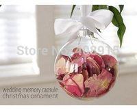 christmas glass ball ornaments - Glass Christmas Ball EMS quot Christmas Ornament Balls mm Silver Tops Wedding Party Decoration