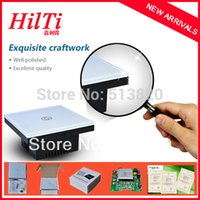 Wholesale China Hilti UK Standard doorbell switch panel switch Crystal Tempered Glass Panel American IC Capacitive Touch CE Approval