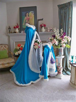 belts and accessories - 2015 Winter Girls Capes Jackets Faux Fur Long Wraps Outside Wedding Flower Girls Christmas Party Accessories Satin Custom Made Cloak