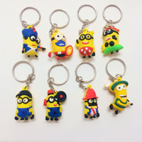 Wholesale 2015 D Despicable Me Minion Action Figure Keychain Keyring Key Ring Cute best gift with opp packing DHL fastship