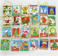 Wholesale Christmas Greeting Card Christmas Tree Decorations Cartoon Drawing Post Card New Year Greeting Postcards Gift Cards Christmas Card G0226