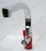 Wholesale Red kitchen faucet copper kitchen faucet of hot and cold