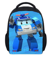 Shoulder Bags Men Plain Mini Cartoon Robocar Poli Bag Children 3D Deformation Car School Bags Kids Kindergarten Backpack Boys Mochila Infantil Schoolbag