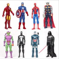 Wholesale Top Grade New Marvel Heros Action Figures Captain America Ironman Spider Man Wolverine The Avengers PVC Action Figure styles Free DHL