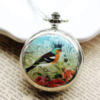 battery factory shop - Factory gift shop selling large lark enamel table built in large mirror Pocket Watch