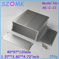 AK-C-C1 aluminum project box - 10 pieces szomk new electronics aluminum project box new x97x120mm extruded aluminum housing extruded aluminium tool box