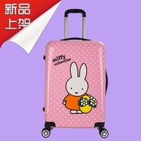 Wholesale 20 quot Miffy Rabbit Universal Wheel Rolling Wheel Suitcase Luggage