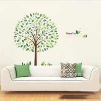 beds for small rooms - 2014 Hot Selling Green Tree Wall Stickers Vinyl Living Room Bed Room Decor Paper Colors Vision Education Home Art