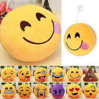 Wholesale Hot Sales Novelty Items Pendant Toy Doll Decoration Soft Stuffed Plush Cotton Lovely Emoji Smiley Emoticon Inch PA1