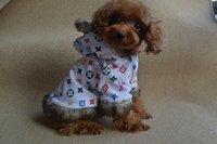 Wholesale Designer Dog Winter Clothes Fleece Inside Classic Letter Prints Pets Coat fur Hoodie Dog Products