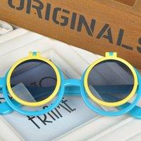 al por mayor gafas de personalidad para niños-Gafas de Verano Estilo niños lindos Personalidad Marco Redondo Sunglasses muchachas de los bebés Niños Goggles Gafas de Sol Y60 * MPJ041 # M5